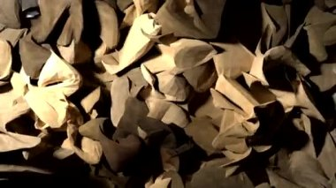 Abstract wood shavings paper cloth pulsating background backdrop — Stock Video