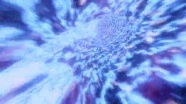 Wormhole turbulent flight through space warp speed dimension — Stock Video