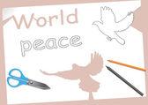 世界平和 — ストックベクタ