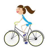 女性のバイク — ストックベクタ