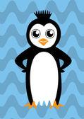 Colorful happy penguin — Stock Vector