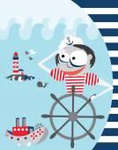 Sailor vector illustration — Stock Vector