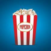 Popcorn vector illustration — Stock Vector