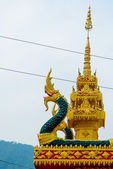 A fragment of decoration of religious buildings. — Stock Photo