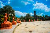 Very beautiful, modern and large Park in Ho Chi Minh city. — Stock Photo