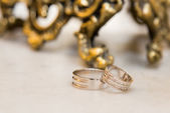 Due anelli di nozze — Foto Stock