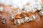 Very beautiful engagement ring — Stock Photo