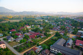 Colorful  hot air balloon in the sky.Laos. — Fotografia Stock
