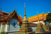 Wat Pho or Wat Phra Chetuphon,the Temple of the Reclining Buddha in Bangkok of Thailand — Stock Photo