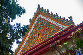 Grand palace bangkok, THAILLAND.A fragment of decoration, texture roof — Stock Photo