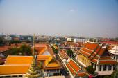 View of the city from above.River, houses and temples.View from the bird's flight.Bangkok.Thailand — Stock Photo