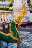 Chrám se zlatem v hlavním městě Laos, Vientiane. — Stock fotografie