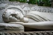 A huge statue of the reclining Buddha.Pagoda Belek.Nha Trang.Vietnam. — Stock Photo