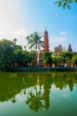 Tran Quoc pagode - Hanoi, Vietnam.it is een beroemde toeristische bestemming in hanoi, vietnam — Stockfoto