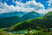 Mountains against the sky the summer.The Caucasus. .Russia. — Stock Photo