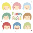 Funny faces — Stock Vector #69107525