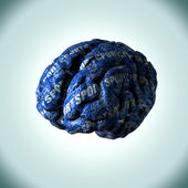 Brain made from paper depicting the desires, concepts and thoughts of a mans brain. — Stock Photo