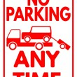 """Sign """"No parking - Any time"""" — Stock Vector #69747149"""