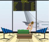 Flight suspence — Stock vektor