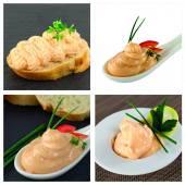 Salmon caviar spread delicacy — Stock Photo