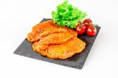 Turkey cutlet marinated for grilling — Stock Photo