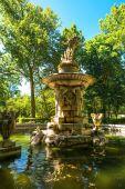 Fountain in the Botanical Gardens  in Aranjuez — Stock Photo