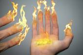 Fingers of candles — Stock Photo