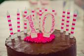 10th Birthday Cake decoration — Stock Photo