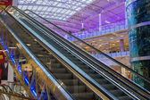 Escalator in mall Aviapark — Stock Photo