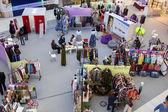 Market in mall Aviapark — Stock Photo