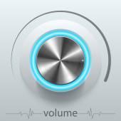 Button volume — Stock Vector