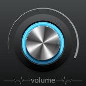 Button volume — Vector de stock