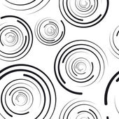 Concentric circles seamless pattern — Stock Vector