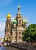 Church of the Savior on Spilled Blood in St Petersburg — Stok fotoğraf