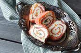 Salmon rolls — Stock Photo