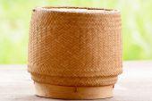 Kratip or sticky rice basket container — Fotografia Stock