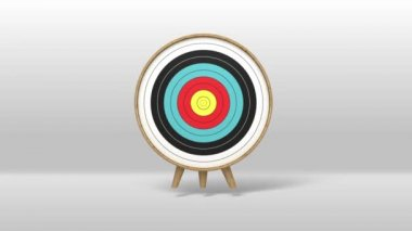 One arrow hitting exactly in the targets 2(included Alpha)Stock video — Stock Video