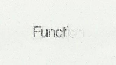 Text animation 'Function' for topic introduction — Stock Video