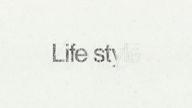 Text animation 'Life style' for topic introduction — Stock Video