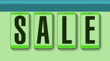 Promotion of Sale, Discount 50 percent, effective sale alarm. — Stock Video