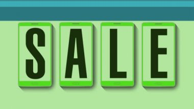 Promocja sprzedaży, Rabat 60 procent, skuteczna sprzedaż alarmu. — Wideo stockowe