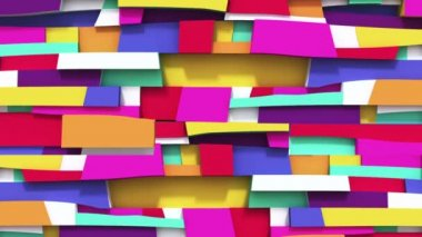 Abstract vivid colorful background with Irregularity rectangulars — Stock Video