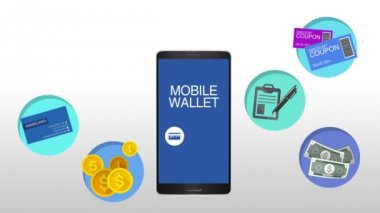 Function explanation for mobile wallet concept animation — Stok video