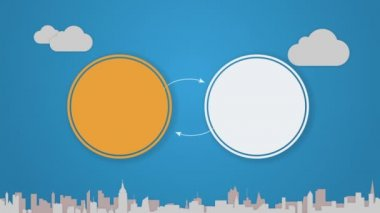 Circle diagram animation for topic introduction or explanation in Powerpoint presentations 2 — Vídeo stock