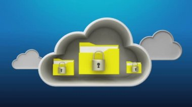 Access Cloud Security service animation (included Alpha) — Stock Video