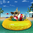 Enjoy holiday vacation in tropical beach concept — Stock Video #78590848