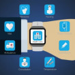 Health care application function for smart watch,mobile watch — Stock Video #78599826