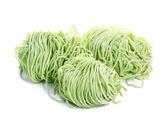 Jade noodle, vegetable noodles, green noodles on white — Stock Photo