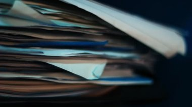 Documents and office papers — Stock Video
