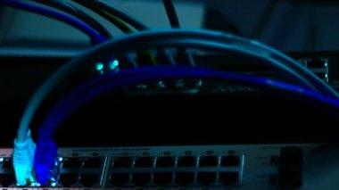 Working network server — Stock video